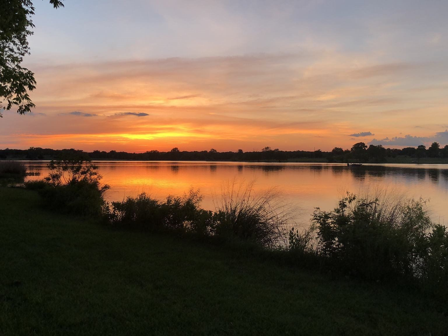 Purcell City Lake Sunset taken by Ryan Rogers
